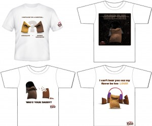 Kellogg's T-shirt concepts for KRAVE cereal