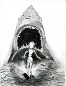 Sketch: Jaws 2 Movie Poster